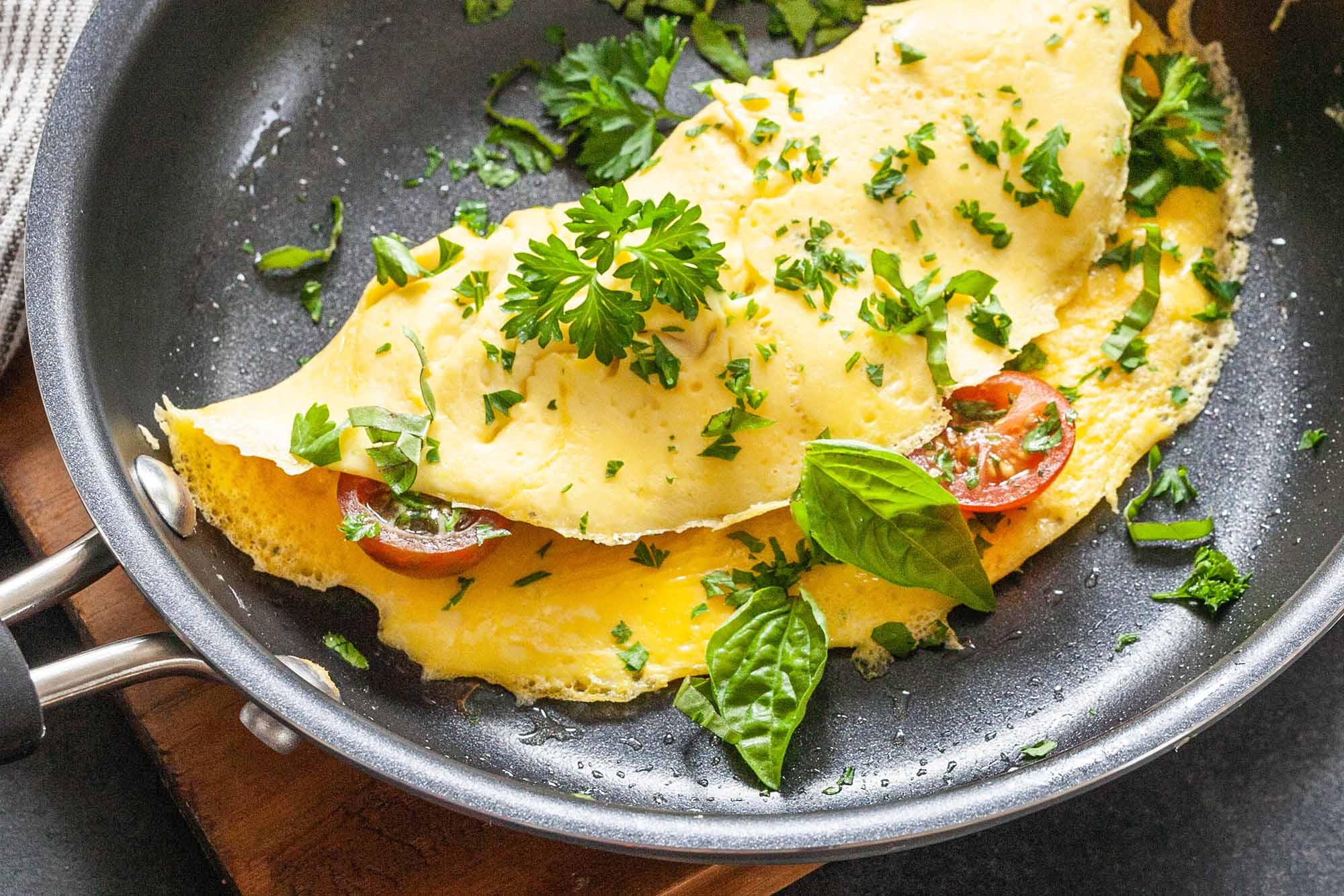 omelet at bed and breakfast